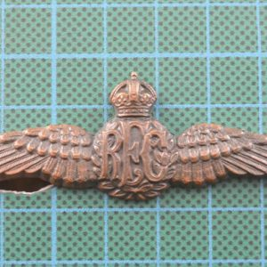 WW1 British Royal Flying Corp's Solid Back Pilots Wings 1.8238