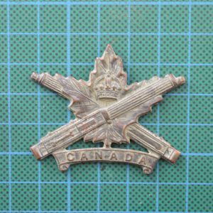 "WW1 Canadian Machine Gun Corps Cap Badge Maker ""Tiptaft B'Ham"" 1.8362"