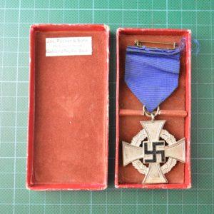 N.S.D.A.P 25 Year Service Medal & Box of Issue 2.13023