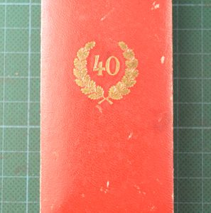 N.S.D.A.P 40 Year Service Medal & Box of Issue 2.13024