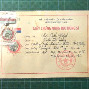 Vietnam War Era Vietcong American Killer Hero Medal 3rd Class C.4948