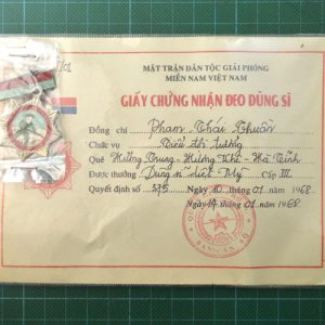 Vietnam War Era Vietcong American Killer Hero Medal 3rd Class C.4951