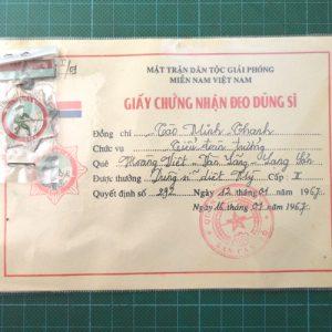 Vietnam War Era Vietcong American Killer Hero Medal 2nd Class C.4954