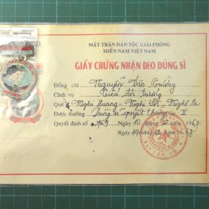 Vietnam War Era Vietcong Hero Determined For Victory Medal 2nd Class C.4956