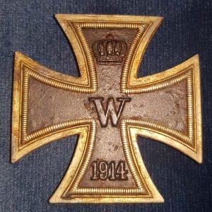 WW1 Imperial German Iron Cross 1st Class EK1 Rare Sew On Type M.714