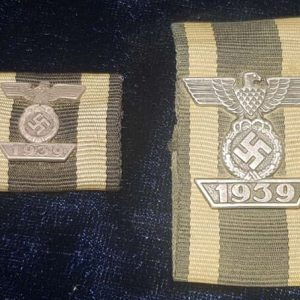 WW2 German EK2 Tunic Spange & Medal Ribbon 2.14302