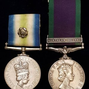 South Atlantic (Falklands) Medal With Rosette & G.S.M With N.I Bar R.A.O.C M.711