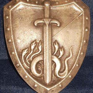 Post WW1 German Friekorps Iron Division Badge c1919-23 1.8481