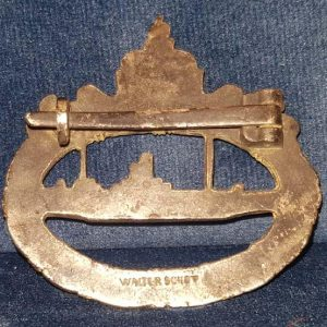 WW1 Imperial German Submariners Badge Makers Marked 1.8482