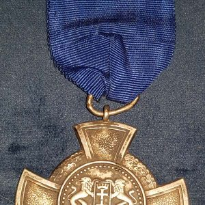 WW2 German Free City of Danzig Police Faihful Service Cross M.14313