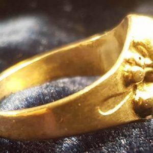 ww2 German Silver Totenkopf Deaths Head Ring 2.14327