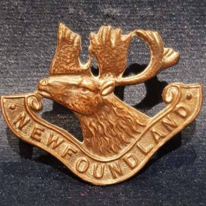 WW1 Rare Canadian Cap Badge The Newfoundland Regiment (2nd Pattern) 1.8364