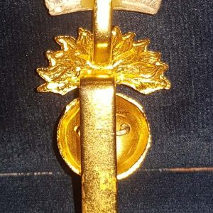 Royal Irish Fusiliers Officers Gilt BI Metal Cap Badge B.8420
