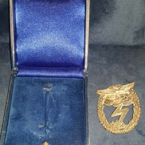 WW2 German Luftwaffe Ground Assault Badge in Original Box of Issue 2.14272