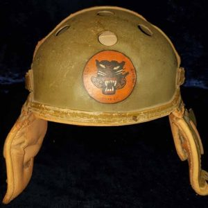WW2 US M38 Rawlings Tanker Crew Helmet With Tank Destroyer Logo 2.14341