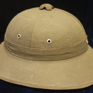 """Vietnam War Era N.V.A / Vietcong M60 Helmet """"MŨ BỘ ĐỘI"""" With Rainy Season Cover  I.C 1006"""