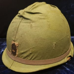 Vietnam War Era US Staff Sergeants Helmet & Fatique Cover