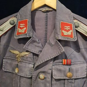 WW2 Early Blue Luftwaffe Flak Artillery Oberleutnant's Tunic With Africa Cuff Title   2.14374