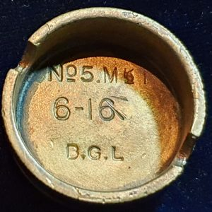 Original WW1 No 5 MK 1 Mills Bomb (Hand Grenade) Base B.G.L 1916 IO.1008