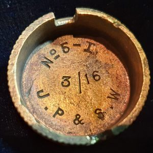 Original WW1 No 5 MK 1 Mills Bomb (Hand Grenade) Base J.P & S.W 1916 IO.1013