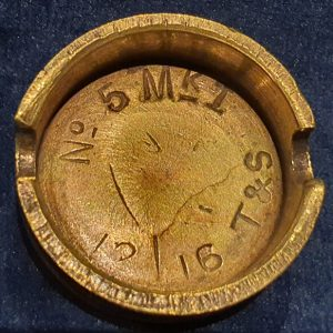 Original WW1 No 5 MK 1 Mills Bomb (Hand Grenade) Base T & S 1916 IO.1026