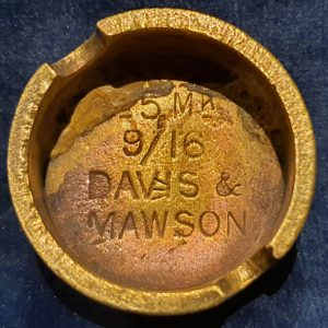 Original WW1 No 5 MK 1 Mills Bomb (Hand Grenade) Base Davis & Mawson 1916 IO.1027