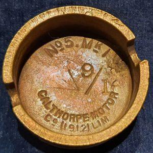 Original WW1 No 5 MK 1 Mills Bomb (Hand Grenade) Base Calthorpe Motor Co 1916 IO.1028