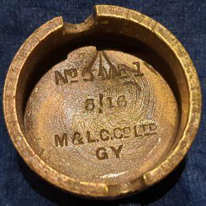 Original WW1 No 5 MK 1 Mills Bomb (Hand Grenade) Base M & L.C Co Ltd 1916 IO.1030