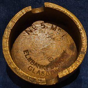 Original WW1 No 5 MK 1 Mills Bomb (Hand Grenade) Base Elmbank Foundry 1916 IO.1032