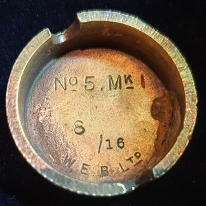 Original WW1 No 5 MK 1 Mills Bomb (Hand Grenade) Base W.E.B Ltd 1916 IO.1012
