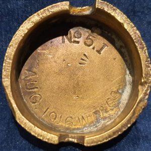 Original WW1 No 5 MK 1 Mills Bomb (Hand Grenade) Base W.A & Co 1916 IO.1018