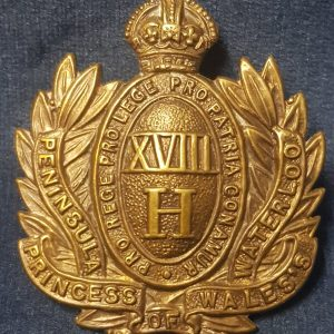 WW1 Era Cap Badge 18th Hussars (Princess of Wales)  CB.1003