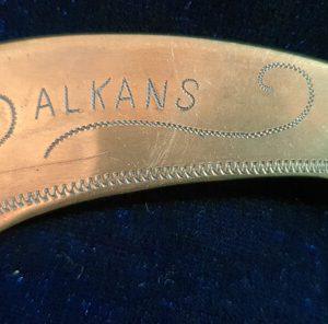 """WW1 Trench Art Letter Opener """"Balkans""""  1.8526"""