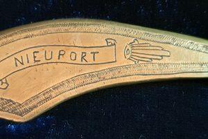 """WW1 Trench Art Letter Opener """"Nieuport"""" 1.8527"""