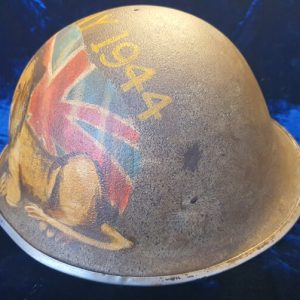 "British 1944 Pattern D-Day ""Turtle"" Helmet Private Commission"