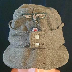 WW2 German Heer Enlisted Mans -NCO's M43 Field Cap Named to a Panzer Grenadier Gefreiter    2.24436